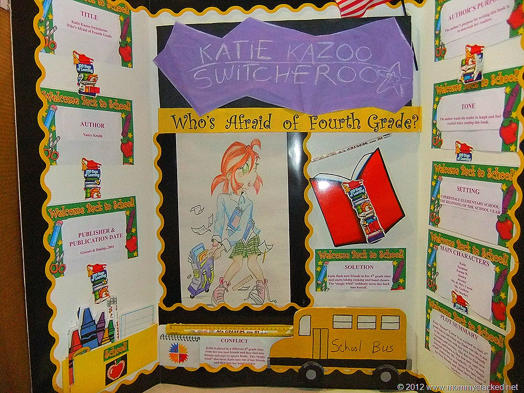 4th grade scrapbook book report Book reports: be sure the reading level of the book is just right each student will create 4 out of the 15 different project book report selections.