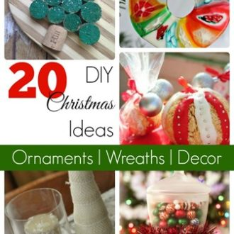 20 DIY Christmas Décor Ideas- Wreaths, Ornaments, and More!