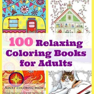 100 Relaxing Adult Coloring Books