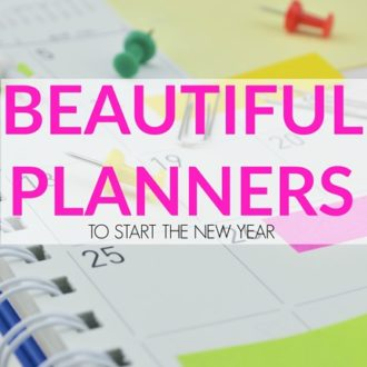 Beautiful Planners to Start the New Year