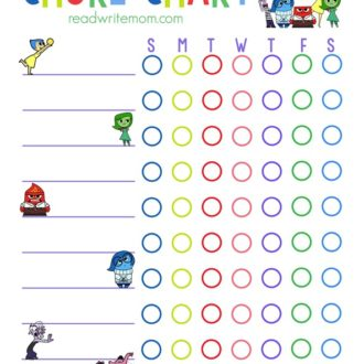 Inside Out Inspired Chore Chart for Kids