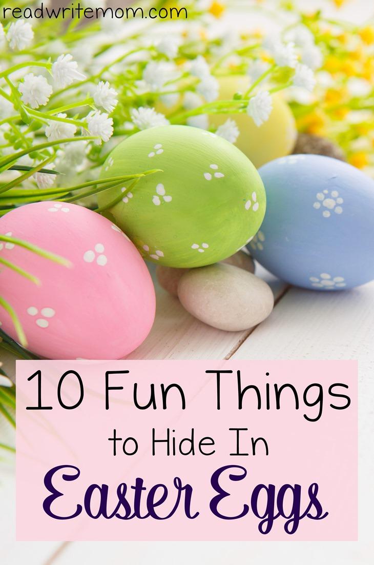 things to hide in easter eggs