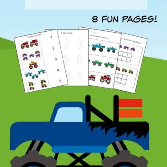 Monster Truck K-1st Grade Printable Learning Pack