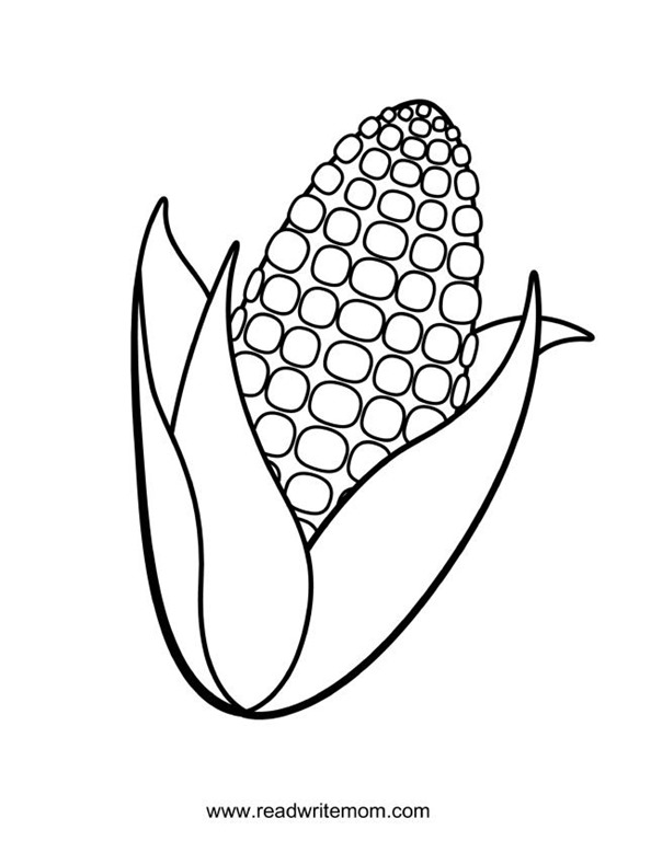 Corn shocks pages coloring pages for Corn stalk template