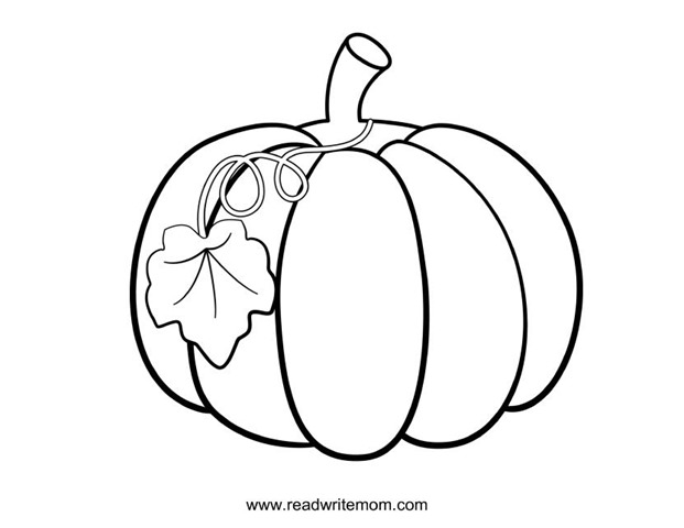 Free printable fall coloring pages for kids for Coloring pages pumpkin free