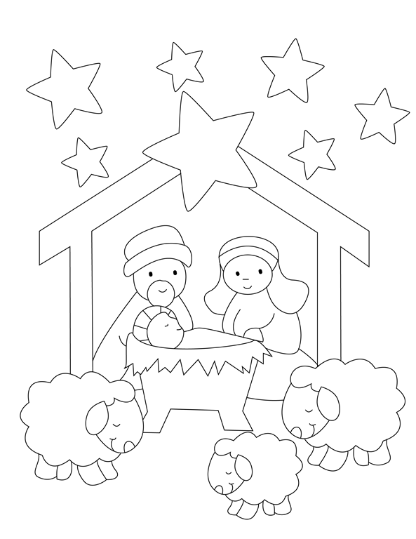 nativity color page