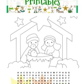 Free Nativity Printables Set For Kids