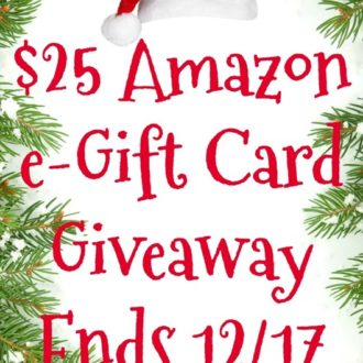 Amazon e-Gift Card Giveaway Ends 12/17