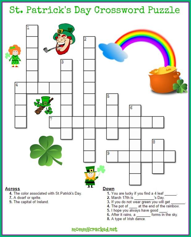 st patricks day crossword