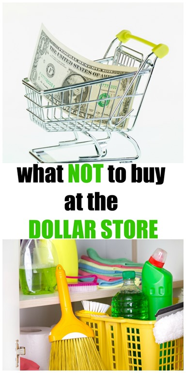 worst things to buy at the dollar store